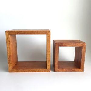 Solid Wood Wall Cube Floating Shelf Set - 2 pcs